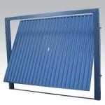 Portão Basculante Azul Alumínio