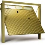 Portão Basculante Dourado Alumínio